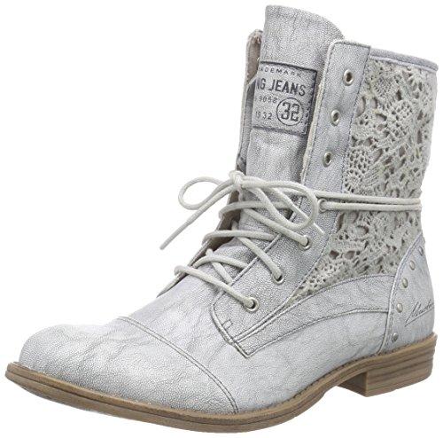 Mustang Damen 1157-527 Combat Boots Silber (21 silber)