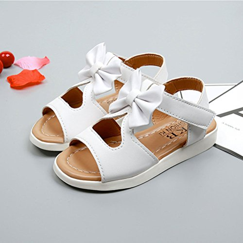 Zhhlinyuan Fashion Toddler Bow tie knot Sandals Shoes Kids Baby Boys Summer Shoes White