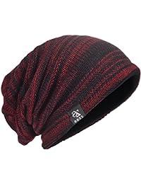HISSHE Men's Knit Beanie Slouch Baggy Skull Cap Vintage Long Hip-Hop Winter Hat