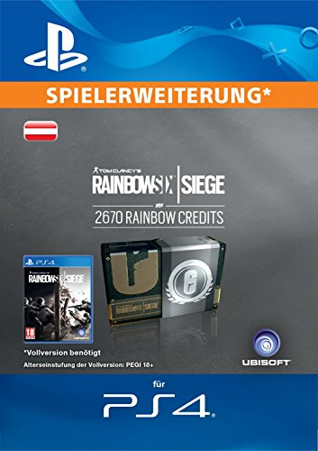 Tom Clancy's Rainbow Six Siege Currency pack 2670 Rainbow credits  [PS4 Download Code - österreichisches Konto]