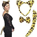 German Trendseller Leoparden Set ┃ 3 teilig ┃ Kostümset ┃ Karneval / Fasching