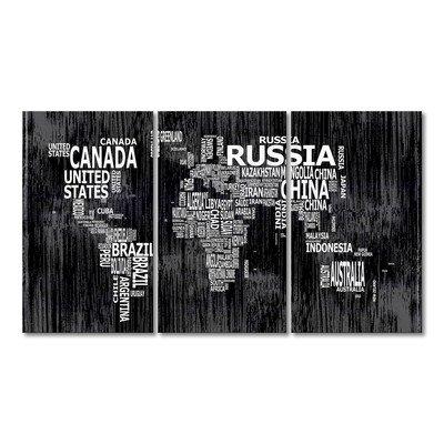 WandbilderXXL® Gedrucktes Leinwandbild Weltkarte Nr.13 180x100cm - in 6 verschiedenen Größen. Fertig gespannt auf Holzkeilrahmen. Günstige Leinwanddrucke für Kinderzimmer Schlafzimmer.