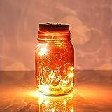 Lampada da bottiglia vetrata esterna lampada da bottiglia luce lunare luce da giardino luce rossa luce bianca calda