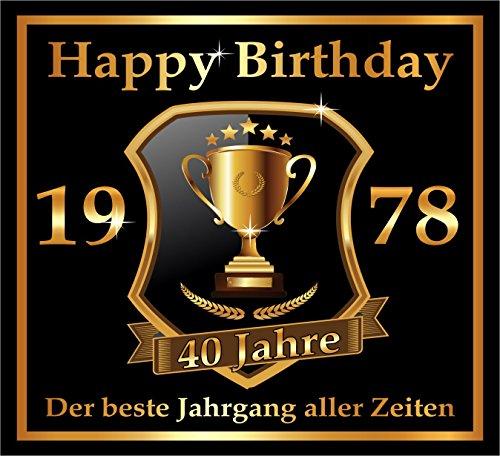 inal RAHMENLOS® Design: Selbstklebendes Flaschen-Etikett zum 40. Geburtstag: 1978 Der beste Jahrgang (Jahrgang 40 Geburtstag)