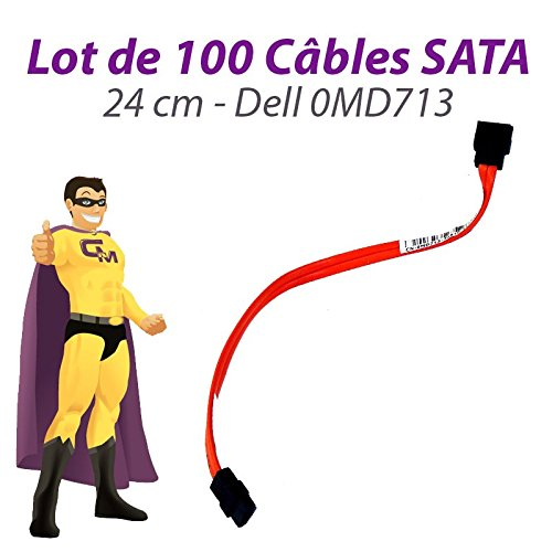 Dell Set 100 Kabelbaum SATA 0MD713 MD713 Optiplex 755 760 SFF 24cm Orange