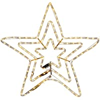WeRChristmas Star Silhouette LED Rope Lights with Flash Effect, 72 cm - Warm White, Large