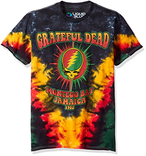 Liquid Blue Herren T-Shirt Grateful Dead Montego Bay Tie Dye Short Sleeve - Mehrfarbig - Klein -