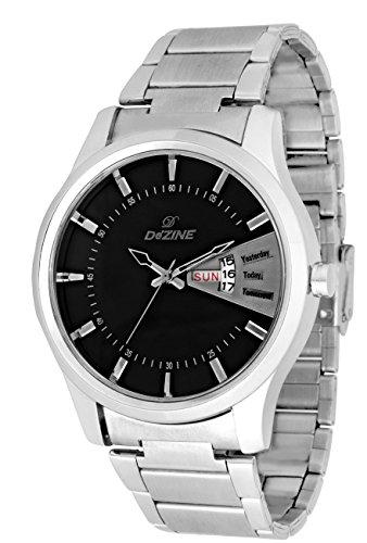 Dezine\'s Day and Display Analog watch-DZ-GR251-BLK-CH