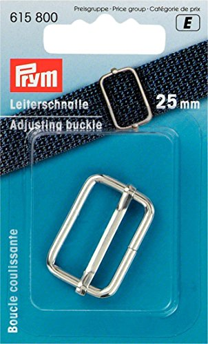 Prym verstellbare Schnalle, Metall, Silber, 25mm