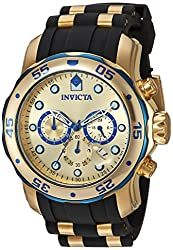Invicta Analog Gold Dial Mens Watch - 17887