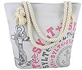 Sonia Originelli City Shopper Sylt Einkaufstasche Tasche Bag Farbe Grau-Rosa
