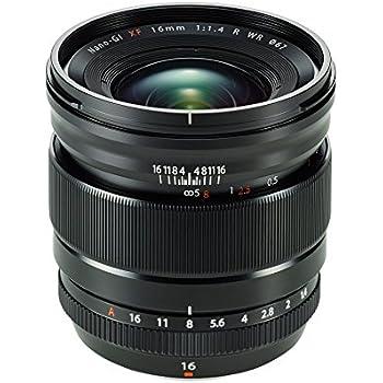 Fujifilm FUJINON Lens XF16mm F1.4 R WR - Objetivo para cámara, color negro