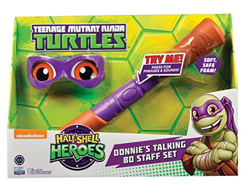 Teenage Mutant Ninja Turtles Half Shell Heroes Donatello Soft Weapons And Bandana Electronic Role Play Set