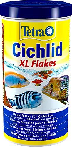 Tetra Cichlid XL-Flakes (Hauptfutter für alle größeren Cichliden), 1 Liter Dose -