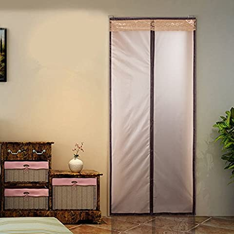 Surpass Winter Door Curtain Magnetic Thermal Insulated Door Curtain Enjoy Your Cool Summer And Warm Winter With Mesh Door Curtain Auto Closer Fits Doors Up To 34