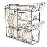 #5: Home Creations 24 Inch Wall Mount Kitchen Dish Rack Plate Cutlery Stand / Kitchen Utensils Rack / Modern Kitchen Storage Rack