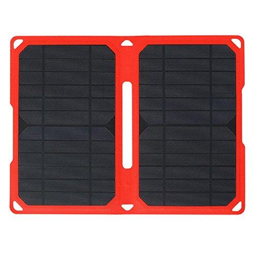 TOOGOO 14W Super Schlank ETFE laminiert faltende Solarpanel Ladegeraet wasserdicht IPX5 tragbar Sonnenkollektor fuer IOS und Android