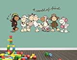 Klebefieber Wandtattoo World of Friends B x H: 90cm x 37cm