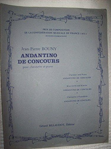 Andantino de concours : Pour clarinette et piano