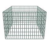 Festnight Einzäunung Zaun Zaunelemente für Gartenkomposthaufen Quadratmaschenzaun 100 x 100 x 70 cm