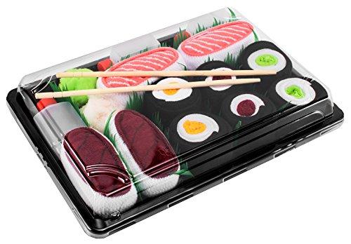 Sushi Socken 5 Paar Lachs Thunfisch Gurke Maki, Maki Oshinko Maki Thunfisch EU 36-40 in Europa hergestellt ideal als Geschenk! Originelle Socken bester Qualität mit Öko-Tex-Zertifikat