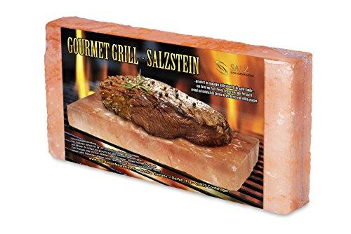 51T6%2BzNfnlL - Gourmet Grill Salzstein - Himalaya* Salz- 20 x 10 x 2,5 cm von Salz Einkaufsparadies (aus der Salt Range Pakistan)