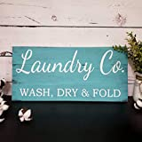 yyyhkkk Lavanderia Co Sign Laundry Room Decor Shabby Chic Sign Pallet Wood Plaque Sign Housewarming Gift Distressed Sign Laundry Co Decor segni