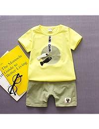 4cf65c7a70523b Finitgo Ragazza del Neonato T-Shirt dei Vestiti di Estate del Fumetto  Cotone Senza Maniche Abiti Set 0-3 Anni…