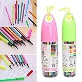 Fysless 12/24COULEUR stylos Box–L'eau de bille de couleur marqueur Surligneur pour enfants papeterie Fournitures scolaires 12 12/24Colors