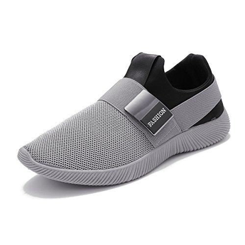 Sneakers, Gracosy Herren Damen Freizeitschuhe Laufschuhe Turnschuhe Sportschuhe Unisex Classic Schuhe Grau 44 (Athletic Womens Schuh Casual)