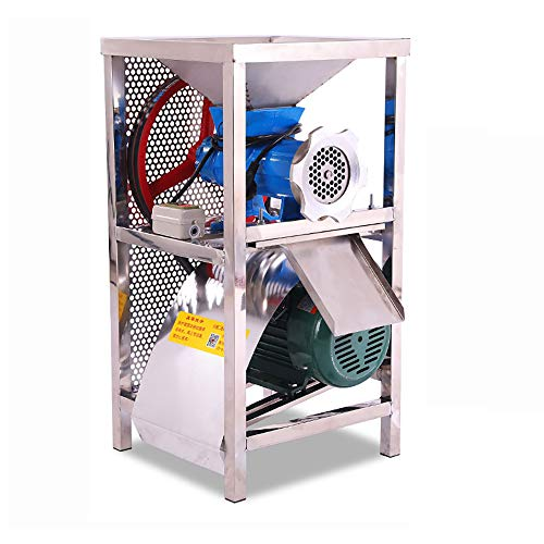 Isunking Picadora de Carne Comercial de 220 V, máquina trituradora de Hueso picadora eléctrica de Acero Inoxidable con Cuchilla Redonda de Apertura de 8 mm 2.2KW 150KG / H