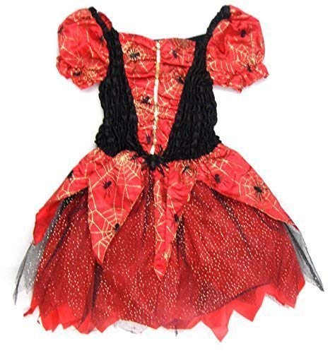 Ex-Store Girls Witches Costume in Pretty Red Black and Gold 7-8 Years