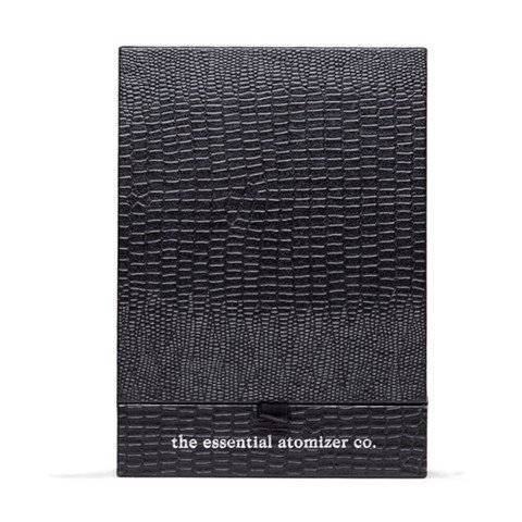 The New IRIS 100ml Black Gloss Refillable Perfume Atomizer with Bulb Spray & Presentation Gift Box