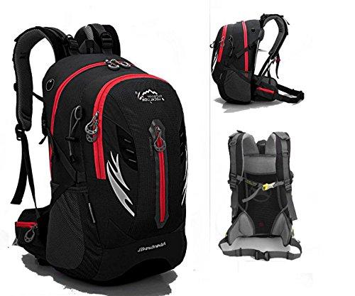 ROBAG Wanderrucksack Outdoor Wandern camping Fahrrad Tasche Umhängetaschen für Männer und Frauen 42l black