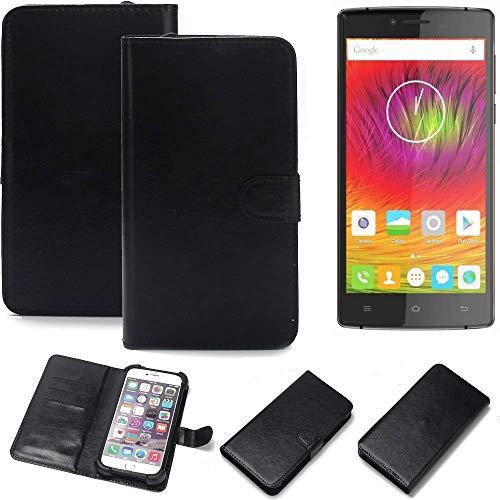 K-S-Trade 360° Wallet Case Handyhülle für Cubot S600 Schutz Hülle Smartphone Flip Cover Flipstyle Tasche Schutzhülle Flipcover Slim Bumper schwarz, 1x