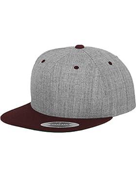 Flexfit -  Cappellino da baseball  - Uomo, UOMO, Kappe Classic Snapback 2-Tone, - h.grey/maroon, taille unique