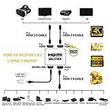 Lorenlli 2-Port-HDMI-bidirektionaler 1-in-2-Out-Switch-Switcher 4K * 2K Ultra HD-HDMI-Splitter-Auswahladapter für HDTV-DVD