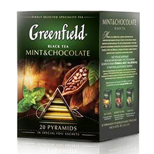 Greenfield Schwarztee Mint & Chocolate 2er Pack (2 x 20 Pyramidenbeutel) Tee black Pyramid Tea