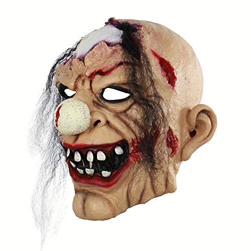Kostüm Jester Scary - Haoxiaren Clown Maske Scary Böse Jester Clown Volle Gesicht Halloween Horror Latex Masken