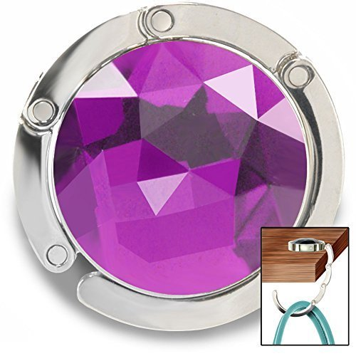 purse-hook-gem-accented-hanger-handbag-holder-for-tables-desks-and-more-by-fashion-heaven-purple-by-