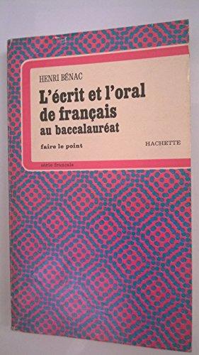 L'Écrit et l'oral de français au baccalauréat
