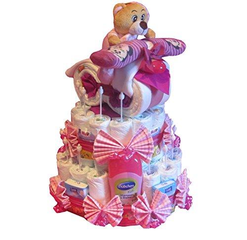 Pañales para tartas-Pañales Pañales para tartas con moto rosa azul