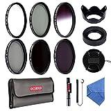 58MM Filter Set Beschoi 6Pcs Filter Kit ( UV+CPL+Verlauf Grau Filter)+ ND...