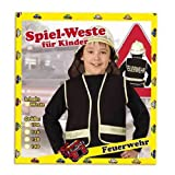 PARTY DISCOUNT Weste Feuerwehr für Kinder, schwarz, Gr. 128