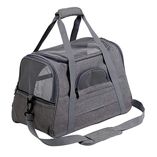 WLDOCA Transporttasche & Hundebox für den Transport von Hund & Katze im Flugzeug, Auto oder Zug mit weichen Polstern