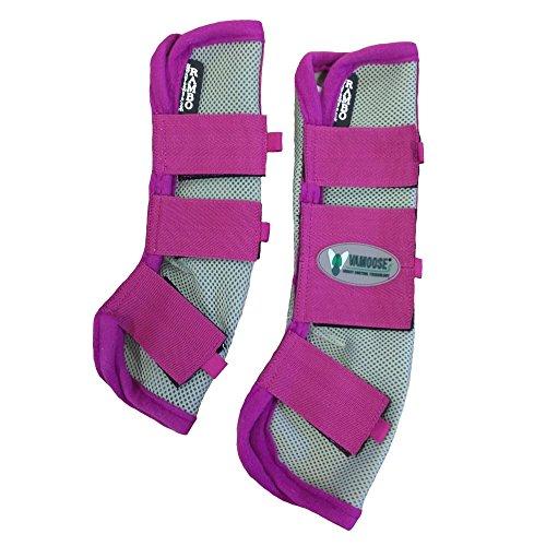 Horseware Rambo Fly Boots Vamoose Gamaschen Silver/Purple Pony / Cob / Horse (Horse) -