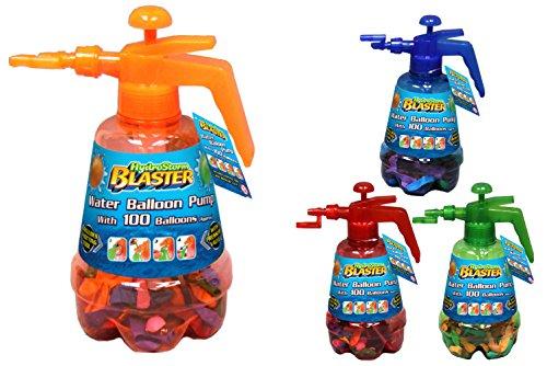 Toyland La bomba de globo Hydro tormenta Blaster Agua roja con 100 globos multicolores Conjunto