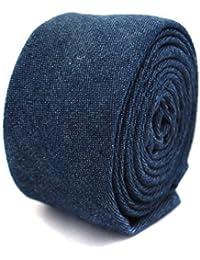 Frederick Thomas mens linen tie in dark navy denim blue