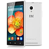THL T6C Quad Cores 3G-Smartphone ohne Vertrag 5'' Zoll Display 1.3GHz Android 5,1 Dual SIM Handy 1GB+8GB Dual 8.0M+2.0M Kamera WIFI GPS Weiß