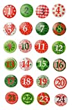 VBS 24 Adventszahlen Button Adventskalender basteln Weihnachten Advent
